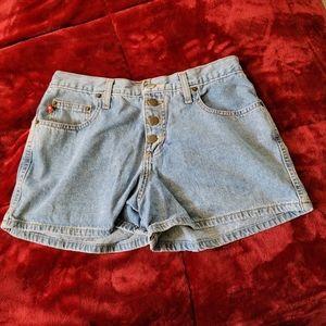 Mudd Blue Jean Shorts Button Up 90's Vintage Retro